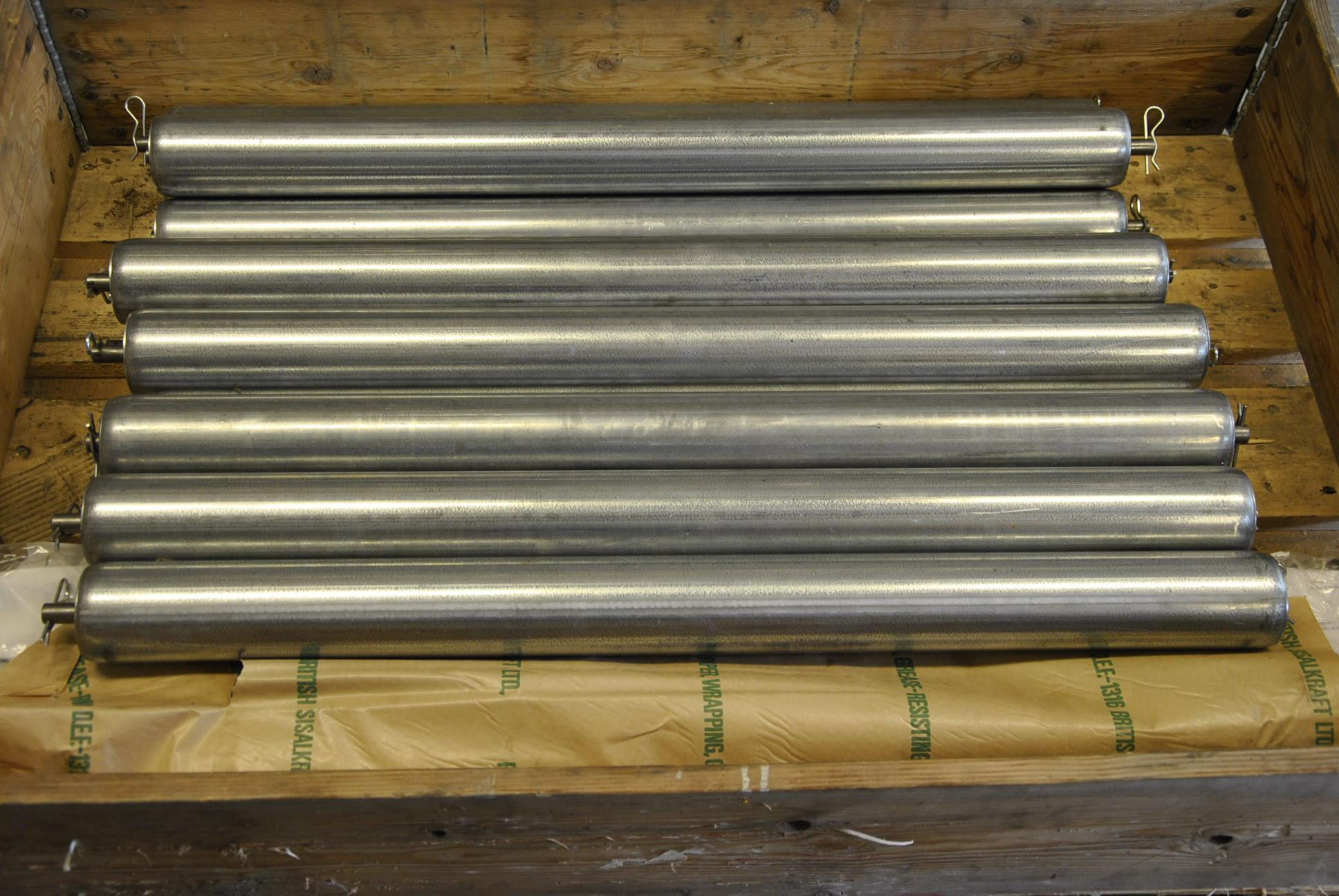 Вал протяжки проволоки L=900 мм, Ø 70 мм. 5 шт/комп